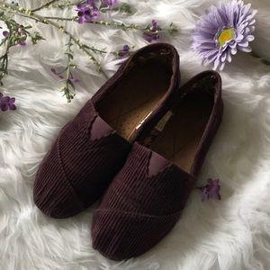 Shoes - 🔮 Purple Corduroy Slip Ons
